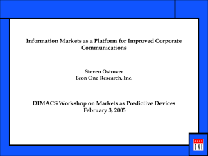 Information markets as a Platform for Improved Corporate Communications