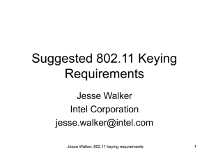 Suggested 802.11 Keying Requirements