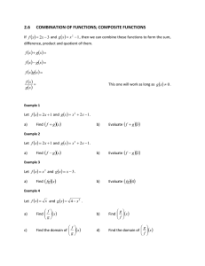 MATH 1314 Notes 2.6 Composition of Functions Spring 2015.doc