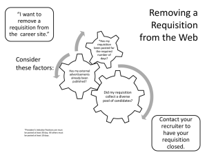 Removing a Requisition from the Web Consider