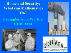 Homeland Security: What Can Mathematics Do?