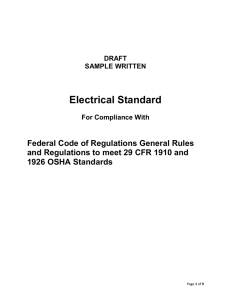 Electrical Safety Standard
