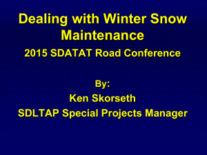 Dealing with Winter Snow Maintenance