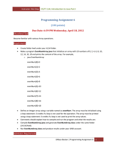 Programming Assignment 6 (100 points) CS/IT 114L Introduction to Java Part I