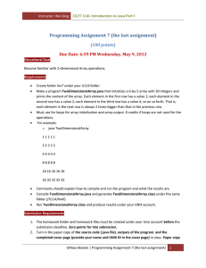 Programming Assignment 7 (the last assignment) (100 points)