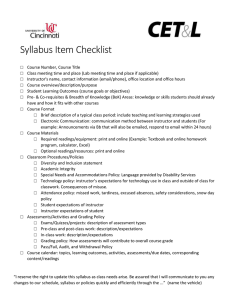 Syllabus Item Checklist