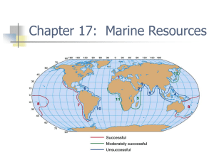 Marine Productivity and Resources