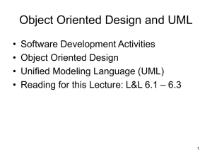Object Oriented Design and UML