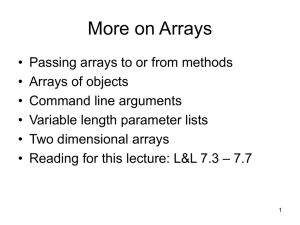More on Arrays