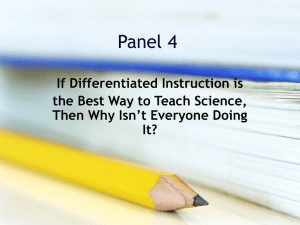 Panel #4 - Differentiated Instruction Powerpoint
