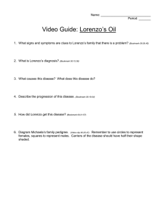 Lorenzo's Oil Video Guide: