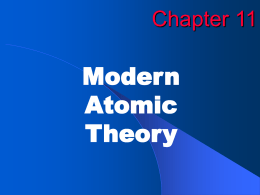 Modern Atomic Theory Chapter 11