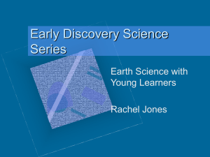 Early Discovery Science Series Earth Science with Young Learners