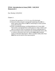 IT244:  Introduction to Linux/UNIX – Fall 2010 Homework 1