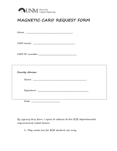 MAGNETIC CARD REQUEST FORM