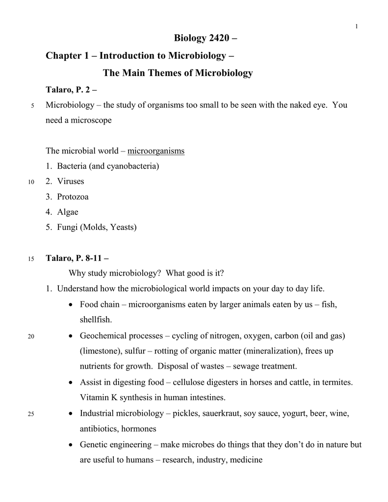 Biology 2420 Chapter 1 Outline doc