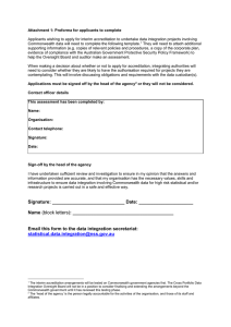 Attachment 1: Proforma for applicants to complete