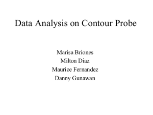 Data Analysis on Contour Probe Marisa Briones Milton Diaz Maurice Fernandez