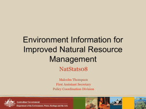 Environment Information for Improved Natural Resource Management NatStats08