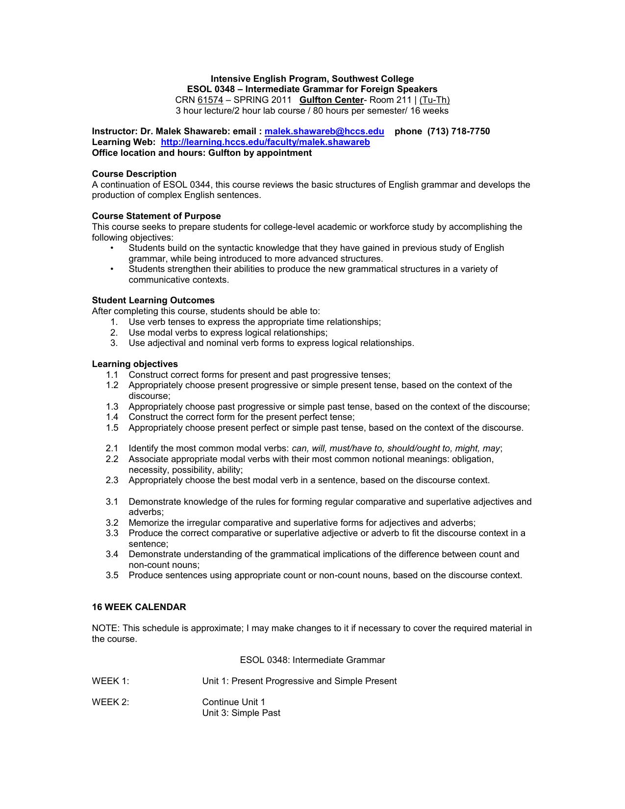 L 2 Grammar Syllabus Sp 11 doc