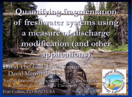 Quantifying fragmentation of  freshwater systems using a measure of  discharge