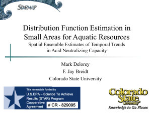 Distribution Function Estimation in Small Areas for Aquatic Resources