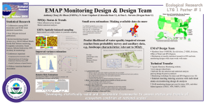 EMAP Monitoring Design & Design Team Ecological Research