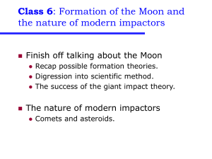 Class 6 the nature of modern impactors