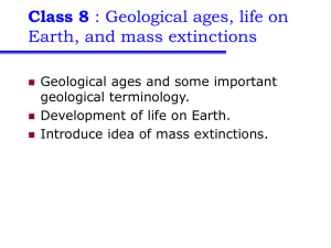 Class 8 Earth, and mass extinctions