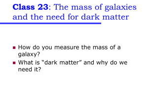 Class 23 and the need for dark matter galaxy?