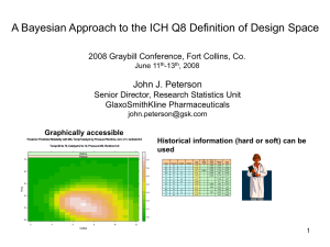 PETERSON_Peterson A Bayesian Approach to the ICH Q8 Design Space.ppt