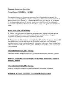 Academic Assessment Committee Annual Report 4-15-2015 to 4-15-2016