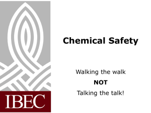 Chemical Safety Slides