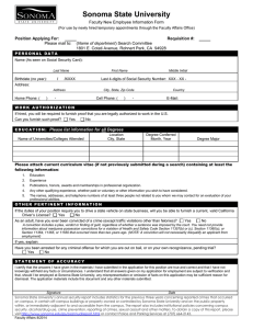 Faculty New Employee Information Form