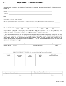 EQUIPMENT LOAN AGREEMENT 9.1