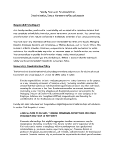Faculty Roles and Responsibilities