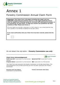 Annex 1 Forestry Commission Annual Claim Form