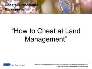 How to Cheat at Land Management