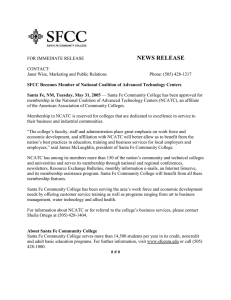 SFCC Becomes Member of National Coalition of Advanced Technology Centers (5/31/05)