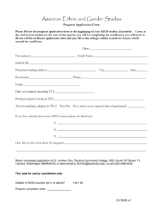 American Ethnic and Gender Studies Program Application Form