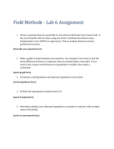 Lab 6 assignment