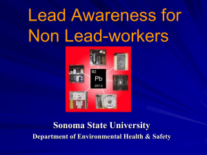 Lead Awareness Training for Non Lead-workers