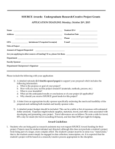 Student Application 2015