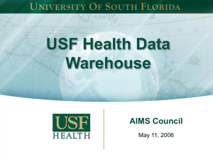 Health Data Warehouse - May 11, 2006