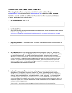 Accreditation Show Cause Report Template