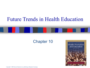 The Future of Health Education