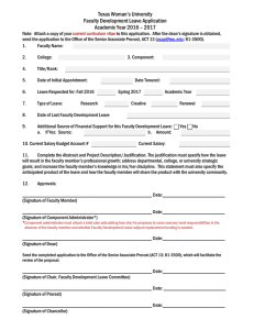 Faculty Development Leave Application