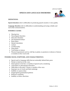 Speech Language Disorders