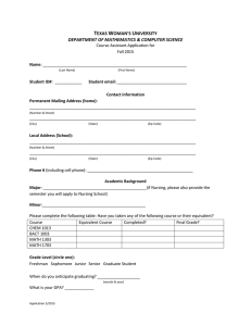 Sample application form