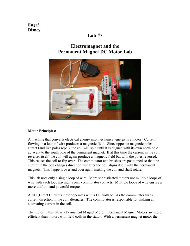 Construction of a DC Motor using ultra-simple parts
